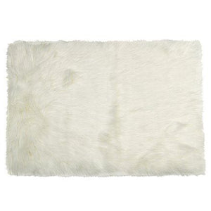 "24"" x 36"" x 1.5"" Off White Faux Rectangular - Area Rug - Buy JJ's Stuff"