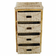 "18'.5"" X 15'.25"" X 32'.5"" Natural Bamboo Storage Cabinet with Baskets"
