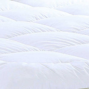 "17"" Square Quilted Accent Full Piping Mattress Pad With Fitted Cover"