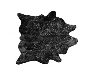 "72"" x 84"" Black and Gold Cowhide - Area Rug - Buy JJ's Stuff"