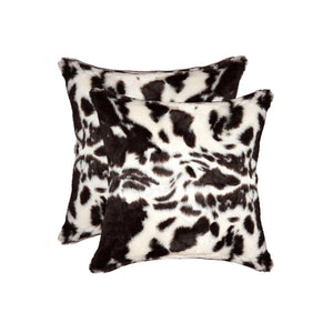 "18"" x 18"" x 5"" Brownsville Chocolate & White Faux - Pillow 2-Pack - Buy JJ's Stuff"