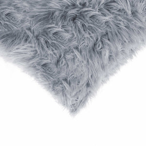 "18"" x 18"" x 5"" Grey, Faux Fur - Pillow 2-Pack - Buy JJ's Stuff"