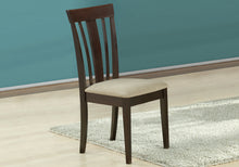 "Two 38.25"" Cappuccino MDF, Brown Microfiber, and Foam Dining Chairs - Buy JJ's Stuff"