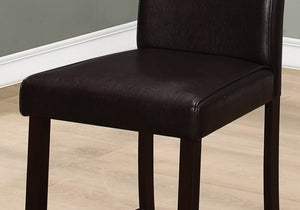 "45"" x 35'.5"" x 80"" Brown, Leather-Look, Counter height - 2pcs Dining Chair - Buy JJ's Stuff"