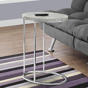 "18'.5"" x 12"" x 25"" Grey, Particle Board, Laminate, Metal - Accent Table - Buy JJ's Stuff"