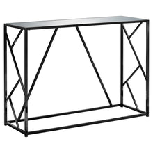 "15'.75"" x 44"" x 32"" Black, Metal, Glass, Particle Board - Accent Table with a Mirror Top - Buy JJ's Stuff"