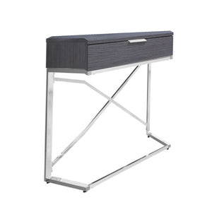 "12'.75"" x 18'.25"" x 23'.5"" Grey, Particle Board, Metal - Accent Table - Buy JJ's Stuff"
