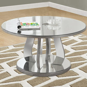 "36"" x 36"" x 18"" Silver - Coffee Table With A Mirror Top - Buy JJ's Stuff"