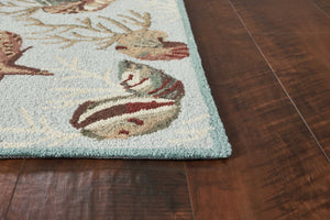 "7'6"" x 9'6"" Polyester Blue Area Rug - Buy JJ's Stuff"