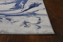 "7'10"" x 10'10"" Polypropylene Blue Area Rug - Buy JJ's Stuff"