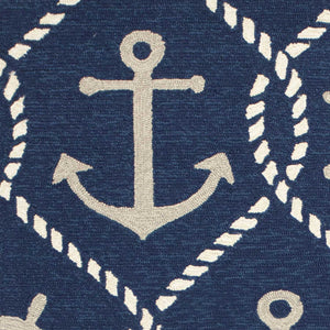 "7'6"" x 9'6"" UV-treated Polypropylene Navy Area Rug - Buy JJ's Stuff"
