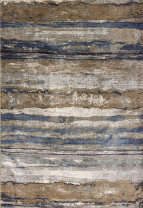 "7'10""X 11'2"" Viscose Ivory-Blue Area Rug - Buy JJ's Stuff"