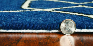 8' x 11' UV-treated Polypropylene Navy Area Rug - Buy JJ's Stuff