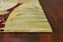 "7'6"" Round Wool Coral-Ivory Area Rug - Buy JJ's Stuff"