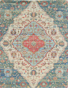5' x 7' Jute Blue-Red Area Rug - Buy JJ's Stuff