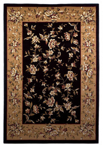 "5'3"" x 7'7"" Polypropylene Black-Beige Area Rug - Buy JJ's Stuff"
