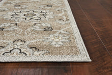 "6'7"" x 9'6"" UV-treated Polypropylene Beige-Grey Area Rug - Buy JJ's Stuff"