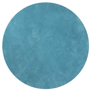 6' Round Polyester Highlighter Blue Area Rug - Buy JJ's Stuff