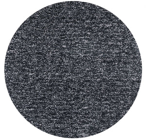 6' Round Polyester Black Heather Area Rug - Buy JJ's Stuff