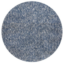 6' Round Polyester Indigo-Ivory Heather Area Rug - Buy JJ's Stuff