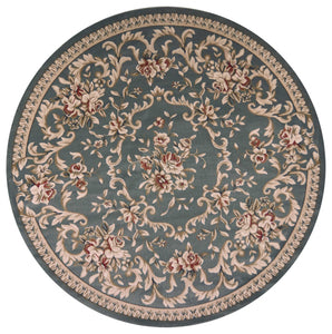 "7'10"" Round Polypropylene Slate Blue Area Rug - Buy JJ's Stuff"