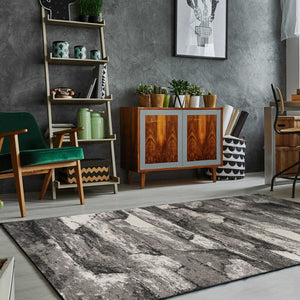 "5'3""X 7'7"" Polypropylene Grey Area Rug - Buy JJ's Stuff"