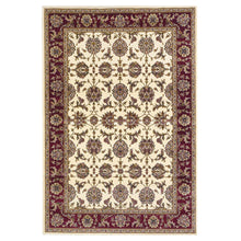 "7'7"" Octagon Polypropylene Ivory-Red Area Rug - Buy JJ's Stuff"