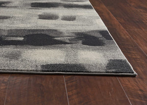 "6'7"" x 9'6"" Polypropylene Grey Area Rug - Buy JJ's Stuff"