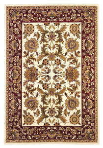 "20"" x 31"" Polypropylene Ivory-Red Area Rug - Buy JJ's Stuff"