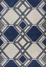 "3'3"" x 4'11"" UV-treated Polypropylene Ivory-Denim Area Rug - Buy JJ's Stuff"