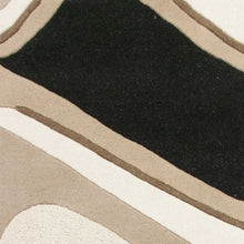 "27"" X 45"" Wool Black-Beige Area Rug - Buy JJ's Stuff"