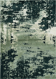 "3'3"" x 4'11"" Polyester Silver Charcoal Area Rug - Buy JJ's Stuff"