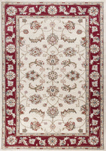 "5'3"" x 7'7"" Polypropylene Ivory-Red Area Rug - Buy JJ's Stuff"