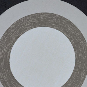 7' Round UV-treated Polypropylene Charcoal Area Rug - Buy JJ's Stuff