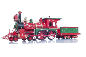 "6"" x 27.5"" x 8.5"" Tin, Metal, Handmade - Christmas Train Model - Buy JJ's Stuff"