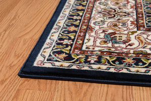 "63"" x 86"" x 0.39"" Navy Polyester Area Rug - Buy JJ's Stuff"