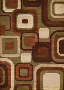 "22"" x 36"" x 0.43"" Brown Polypropylene Accent Rug - Buy JJ's Stuff"