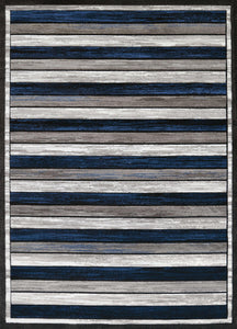 "22"" x 36"" x 0.43"" Denim Blue Polypropylene Accent Rug - Buy JJ's Stuff"