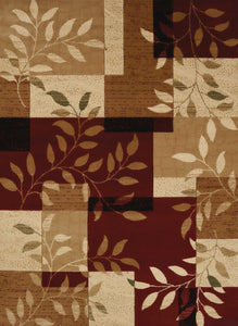 "63"" x 84"" x 0.43"" Burgundy Polypropylene Area Rug - Buy JJ's Stuff"