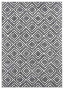 "23"" x 36"" x 1.2"" Grey Microfiber Polyester Accent Rug - Buy JJ's Stuff"