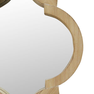 "14"" X 1.25"" X 19"" Natural Wood White Fir Wood Mirror Mdf Wall Mirror - Buy JJ's Stuff"