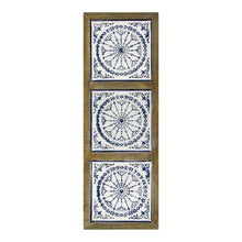 "12.25"" X 1"" X 34.5"" Multi Metal Mdf With Wood Veneer Wall Décor - Buy JJ's Stuff"
