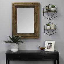 "12.25"" X 5.25"" X 14"" Black Natural Wood Metal Mdf With Wood Veneer Wall Shelf - Buy JJ's Stuff"