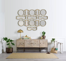 Gold Wood Frame Wall Mirror