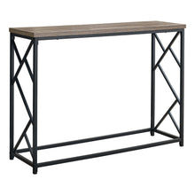 "44"" Rectangular Taupe-Black Metal Hall Console Accent Table - Buy JJ's Stuff"