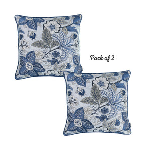 "Set of 2 17"" Jacquard Forest Sky Throw Pillow Cover in Blue - Buy JJ's Stuff"