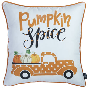 "Set of 4 18"" Pumpkin Spice Throw Pillow Cover in Multicolor - Buy JJ's Stuff"