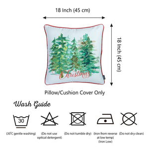 "Set of 2 18"" Christmas Trees Throw Pillow Cover in Multicolor - Buy JJ's Stuff"