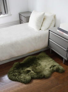 Khaki New Zealand Natural Shearling Sheepskin Rug - Buy JJ's Stuff