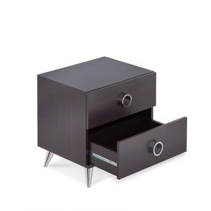 Espresso Wood Finish Rectangular Night Stand - Buy JJ's Stuff